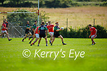 Action from St Pats Blennerville v Churchill in the County Senior football league on Sunday.