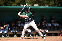 Plymouth State Panthers Zach Brandt (28) during the second game of a doubleheader against the Edgewood Eagles on March 17, 2015 at Terry Park in Fort Myers, Florida.  Edgewood defeated Plymouth State 9-2.  (Mike Janes/Four Seam Images)