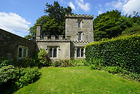 BNPS.co.uk (01202) 558833<br /> Pic: KnightFrank/BNPS<br /> <br /> A 200-year-old castellated gatehouse that was part of the real-life Dick Whittington's estate has gone on the market for offers over £700,000.<br /> <br /> Lypiatt Lodge is an impressive five-bedroom Grade II listed property with a three-storey tower.