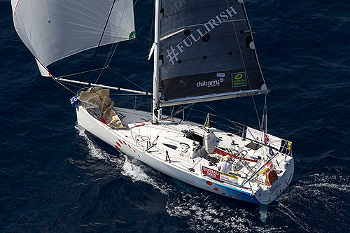 David Kenefick (22) of Crosshaven racing his Figaro 2 FullIrish to be Rookie of the Year in the 2013 Figaro Solo