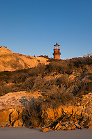 Gay Head Lighthouse from Moshup beach, Aquinnah, Martha's Vineyard, Massachusetts, USA