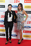 Laura Martinez and Noemi de Miguel pose during AS Sport Female Awards ceremony in Madrid, Spain. December 15, 2014. (ALTERPHOTOS/Victor Blanco)