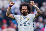 Marcelo Vieira Da Silva of Real Madrid celebrates during their La Liga match between Real Madrid and Valencia CF at the Santiago Bernabeu Stadium on 29 April 2017 in Madrid, Spain. Photo by Diego Gonzalez Souto / Power Sport Images