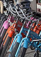 SANTA MONICA-ESTADOS UNIDOS. En Santa Monica encuentras todo tipo de sistema de transporte para sus paseos por los los atractivos turisticos de esta ciudad del condado de Los Angeles.  Photo: VizzorImage