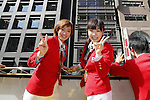(L-R) Kasumi Ishikawa, Ai Fukuhara (JPN), <br /> OCTOBER 7, 2016 :<br /> Japanese medalists of Rio 2016 Olympic and Paralympic Games wave to spectators during a parade from Ginza to Nihonbashi, Tokyo, Japan.<br /> (Photo by Yusuke Nakanishi/AFLO SPORT)