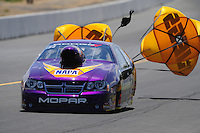 Jul. 30, 2011; Sonoma, CA, USA; NHRA pro stock driver Vincent Nobile during qualifying for the Fram Autolite Nationals at Infineon Raceway. Mandatory Credit: Mark J. Rebilas-