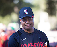 STANFORD, CA - September 15, 2018: David Shaw at Stanford Stadium. The Stanford Cardinal defeated UC Davis, 30-10.