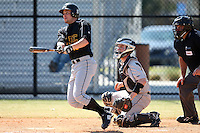 March 15, 2010:  Outfielder Michael Pesci of UMBC vs. Long Island University at Lake Myrtle Park in Auburndale, FL.  Photo By Mike Janes/Four Seam Images