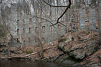Mill ruins at Cotton Hollow, S. Glastonbury, CT   Hartford Manufacturing Co., 1814 (1860)