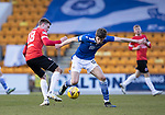 St Johnstone v Clyde…17.04.21   McDiarmid Park   Scottish Cup<br />Charlie Gilmour and Jack Thomson<br />Picture by Graeme Hart.<br />Copyright Perthshire Picture Agency<br />Tel: 01738 623350  Mobile: 07990 594431