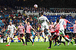 Real Madrid's Gareth Bale, Cristiano Ronaldo and Raphael Varane during La Liga Match at Santiago Bernabeu Stadium in Madrid. October 23, 2016. (ALTERPHOTOS/Borja B.Hojas)