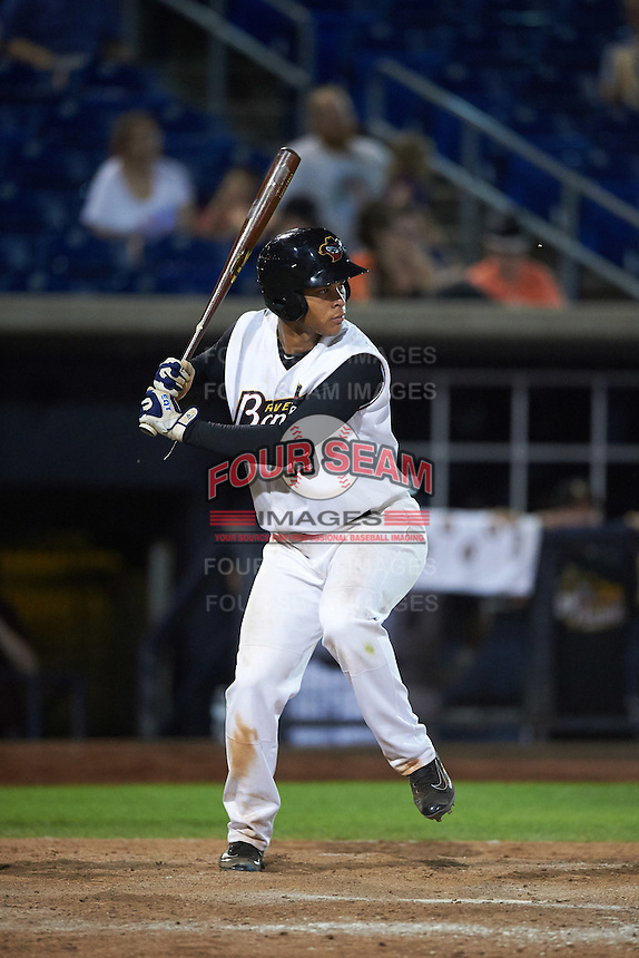Quad Cities River Bandits third baseman Randy Cesar (39) at bat during a game against the Bowling Green Hot Rods on July 24, 2016 at Modern Woodmen Park in Davenport, Iowa.  Quad Cities defeated Bowling Green 6-5.  (Mike Janes/Four Seam Images)