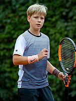 Hilversum, Netherlands, August 8, 2018, National Junior Championships, NJK, Pieter de Lange (NED)<br /> Photo: Tennisimages/Henk Koster