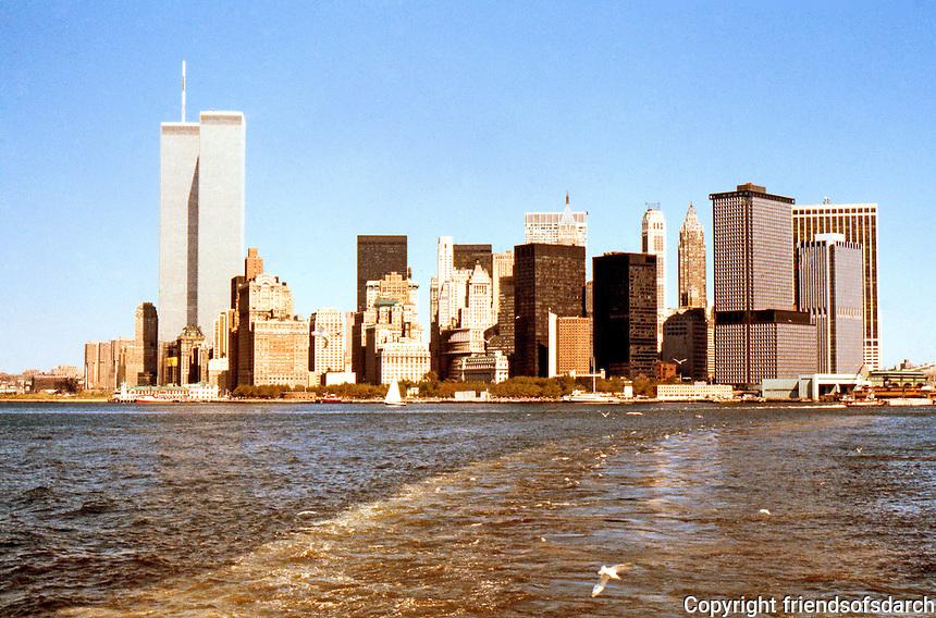 N.Y. : Lower Manhattan--Skyline from Ferry.