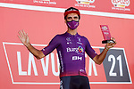 Daniel Navarro (ESP) Burgos-BH most aggressive rider from yesterday's stage at sign on before the start of Stage 15 of La Vuelta d'Espana 2021, running 197.5km from Navalmoral de la Mata to El Barraco, Spain. 29th August 2021.     <br /> Picture: Luis Angel Gomez/Photogomezsport | Cyclefile<br /> <br /> All photos usage must carry mandatory copyright credit (© Cyclefile | Luis Angel Gomez/Photogomezsport)