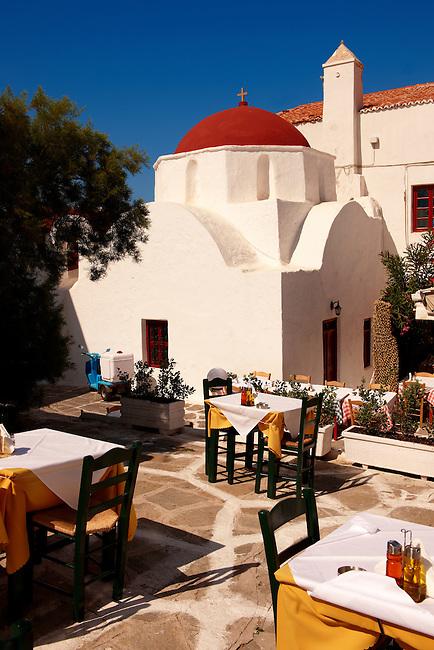 Greek Orthodox church of Agia Moni. Mykanos Chora, Cyclades Islands, Greece