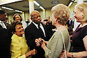 Sybil Morial, US Rep. John Lewis, Verna and US Sen. Mary Landrieu talk as family, friends and well-known politicians say goodbye to former US Rep. Lindy Boggs during her funeral at St. Louis Cathedral, New Orleans, Aug. 1, 2013.