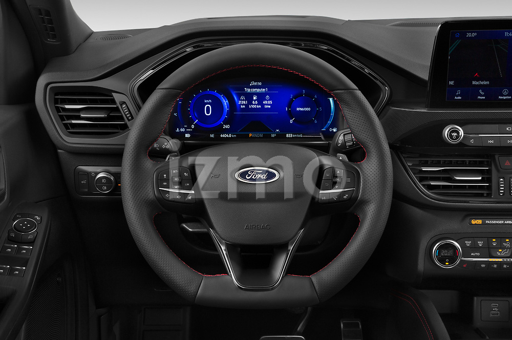 Car pictures of steering wheel view of a 2020 Ford Kuga ST-Line 5 Door SUV Steering Wheel