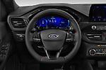 Car pictures of steering wheel view of a 2020 Ford Kuga ST-Line 5 Door SUV Steering Wheel