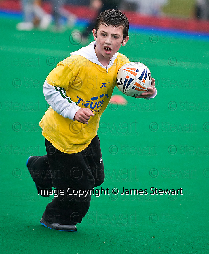 PUPILS FROM ST FRANCIS PRIMARY TAKE PART IN THE TOUCH WORLD CUP YOUTH FESTIVAL AT PEFFERMILL.