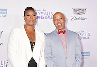 BRENTWOOD, CA - JUNE 11: Actress/singer Queen Latifah and entrepreneur Russell Simmons arrive at the 15th Annual Chrysalis Butterfly Ball at a private residence on June 11, 2016 in Brentwood, California.