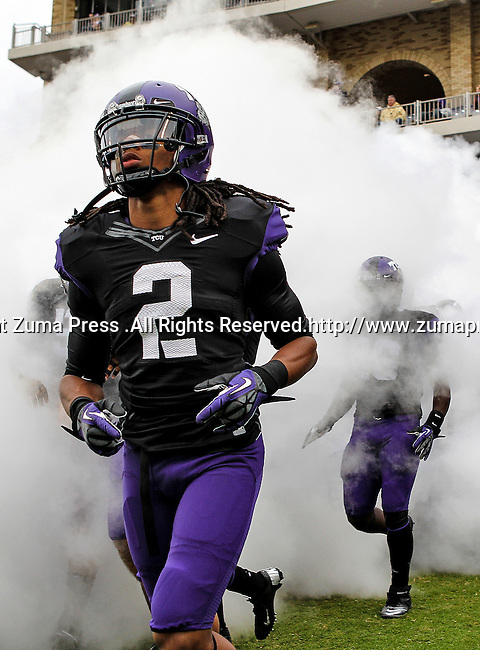 TCU Horned Frogs cornerback Jason Verrett (2) in action during the game between the Iowa State Cyclones and the TCU Horned Frogs  at the Amon G. Carter Stadium in Fort Worth, Texas. Iowa State defeats TCU 37 to 23.