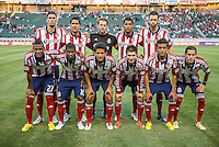 CARSON, CA - May 19, 2012: Chivas USA starting lineup prior to the Chivas USA vs Real Salt Lake match at the Home Depot Center in Carson, California. Final score, Chivas USA 1, Real Salt Lake 4.
