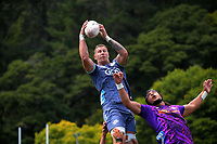 Scott Scrafton takes lineout ball during the Super Rugby Aotearoa preseason match between the Hurricanes and Chiefs at Maidstone Park in Upper Hutt, New Zealand on Saturday, 13 February 2020. Photo: Dave Lintott / lintottphoto.co.nz