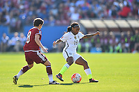 Frisco, TX. - February 13, 2016: The U.S. Women's National team take on Mexico in first half action during CONCACAF Women's Olympic Qualifying at Toyota Stadium.