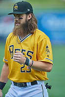 Brandon Marsh (23) of the Salt Lake Bees before the game against the Tacoma Rainiers at Smith's Ballpark on May 16, 2021 in Salt Lake City, Utah. The Bees defeated the Rainiers 8-7. (Stephen Smith/Four Seam Images)