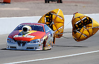 Apr. 5, 2009; Las Vegas, NV, USA: NHRA pro stock driver Greg Stanfield after winning his semi final race during eliminations of the Summitracing.com Nationals at The Strip in Las Vegas. Mandatory Credit: Mark J. Rebilas-