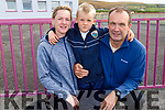 TJ McCarthy on his first day in Glenderry NS on Tuesday with his parents Kate Browne and Derek McCarthy