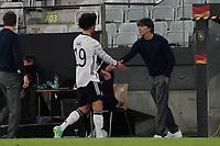 Leroy Sane (Deutschland Germany) und Bundestrainer Joachim Loew (Deutschland Germany) - Innsbruck 02.06.2021: Deutschland vs. Daenemark, Tivoli Stadion Innsbruck