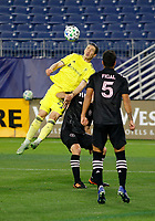 20th November 2020, Nashville, TN, USA;  Nashville SC midfielder Alex Muyl (29) heads a ball out of the box during an MLS Cup Playoffs Eastern Conference Play-In game between Nashville SC and Inter Miami, November 20, 2020 at Nissan Stadium