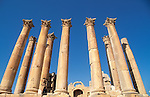 Jordan, Jerash. The Temple of Artemis, built around the middle of the 2nd century A.D&#xA;<br />