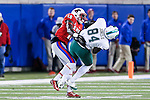 Tulane Green Wave tight end Charles Jones (84) in action during the game between the Tulane Green Wave and the SMU Mustangs at the Gerald J. Ford Stadium in Dallas, Texas.