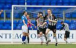 St Johnstone v Dunfermline....25.02.12   SPL.Paul Burns celebrates his goal.Picture by Graeme Hart..Copyright Perthshire Picture Agency.Tel: 01738 623350  Mobile: 07990 594431