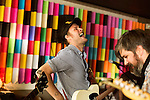 July 24, 2014. Carrboro, North Carolina.<br />  Mike Taylor, of HISS Golden Messenger, plays a festival day party at the Orange County Social Club, a local bar.<br />  Day two of the MERGE 25 festival, celebrating the 25 year history of the independent record label.
