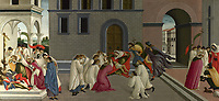 Full title: Three Miracles of Saint Zenobius<br /> Artist: Sandro Botticelli<br /> Date made: about 1500