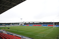 20130310 Copyright onEdition 2013©.Free for editorial use image, please credit: onEdition..General view of the Salford City Stadium before the LV= Cup semi final match between Sale Sharks and Saracens at the Salford City Stadium on Sunday 10th March 2013 (Photo by Rob Munro)..For press contacts contact: Sam Feasey at brandRapport on M: +44 (0)7717 757114 E: SFeasey@brand-rapport.com..If you require a higher resolution image or you have any other onEdition photographic enquiries, please contact onEdition on 0845 900 2 900 or email info@onEdition.com.This image is copyright onEdition 2013©..This image has been supplied by onEdition and must be credited onEdition. The author is asserting his full Moral rights in relation to the publication of this image. Rights for onward transmission of any image or file is not granted or implied. Changing or deleting Copyright information is illegal as specified in the Copyright, Design and Patents Act 1988. If you are in any way unsure of your right to publish this image please contact onEdition on 0845 900 2 900 or email info@onEdition.com