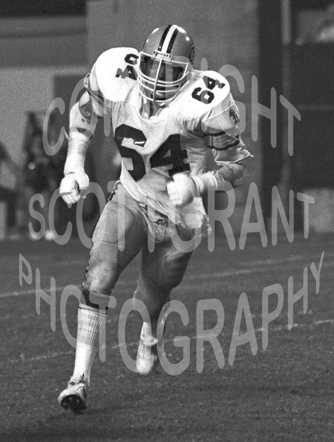 David Boone Edmonton Eskimos 1981. Photo copyright Scott Grant.