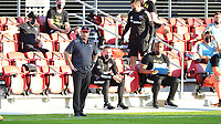 WASHINGTON, DC - NOVEMBER 8: Chad Ashton Interim Head coach of D.C. United during a game between Montreal Impact and D.C. United at Audi Field on November 8, 2020 in Washington, DC.