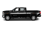 Car Driver side profile view of a 2020 GMC Sierra-2500-HD SLT 4 Door Pick-up Side View