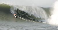 Chris Birtish wins the 2010 Mavericks Surf Contest, Saturday, Feb. 13, 2010, Half Moon Bay, California.