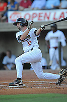 Greenville Astros Marcus Nidiffer at Pioneer Park in Greenville, Tennessee July 19, 2010.   Greenville won the game 7-6.  Photo By Tony Farlow/Four Seam Images