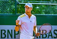Paris, France, 02 June, 2018, Tennis, French Open, Roland Garros, Deney Wasserman (NED)<br /> Photo: Henk Koster/tennisimages.com