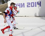 Brittany Hudak, Sochi 2014. Para Nordic Skiing // Ski paranordique.<br /> Brittany Hudak competes in the cross country women's 15km standing event // Brittany Hudak participe à l'épreuve debout 15 km féminin de ski de fond. 10/03/2014.