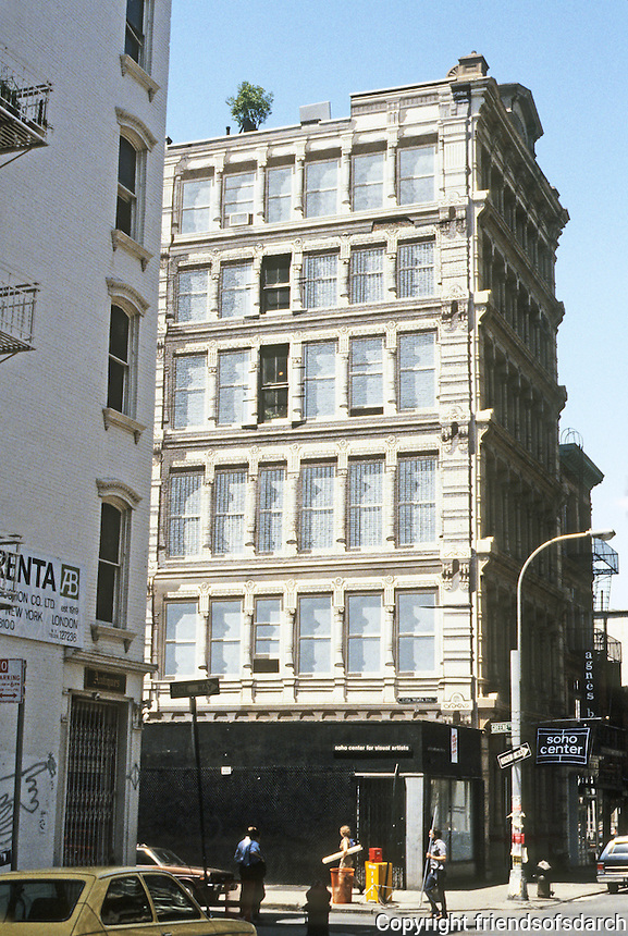 New York City: Richard Haas Mural--Cast Iron Wall. SW corner Prince & Greene, SoHo. Photo '85.