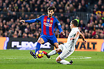 FC Barcelona's Andre Gomes, Real Madrid's Lucas Vazquez during spanish La Liga match between Futbol Club Barcelona and Real Madrid  at Camp Nou Stadium in Barcelona , Spain. Decembe r03, 2016. (ALTERPHOTOS/Rodrigo Jimenez)