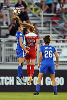 Boyds, MD - Saturday September 23, 2017: Brooke Elby, Tori Huster, Angela Salem during a regular season National Women's Soccer League (NWSL) match between the Washington Spirit and the Boston Breakers at Maureen Hendricks Field, Maryland SoccerPlex.